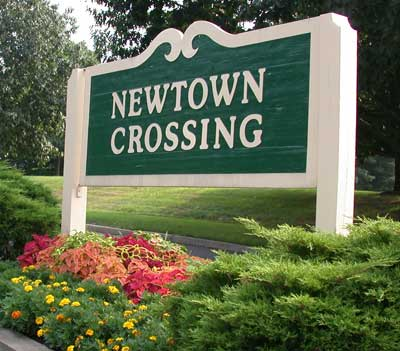 Newtown Crossing Entrance Sign